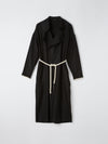 raw wool viscose coat