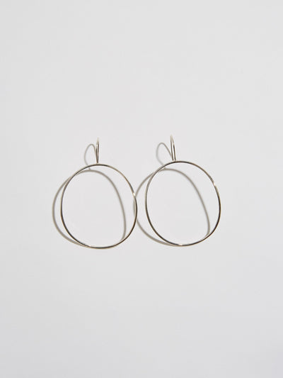 momoko hatano silver large arch earrings