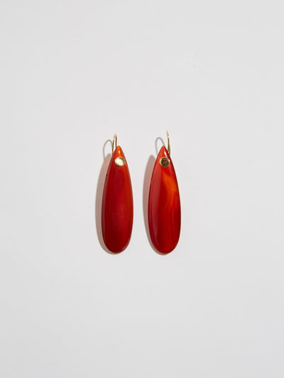 pigna true north burnt agate drop earrings