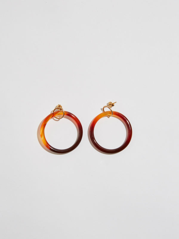 pigna true north burnt agate hoops