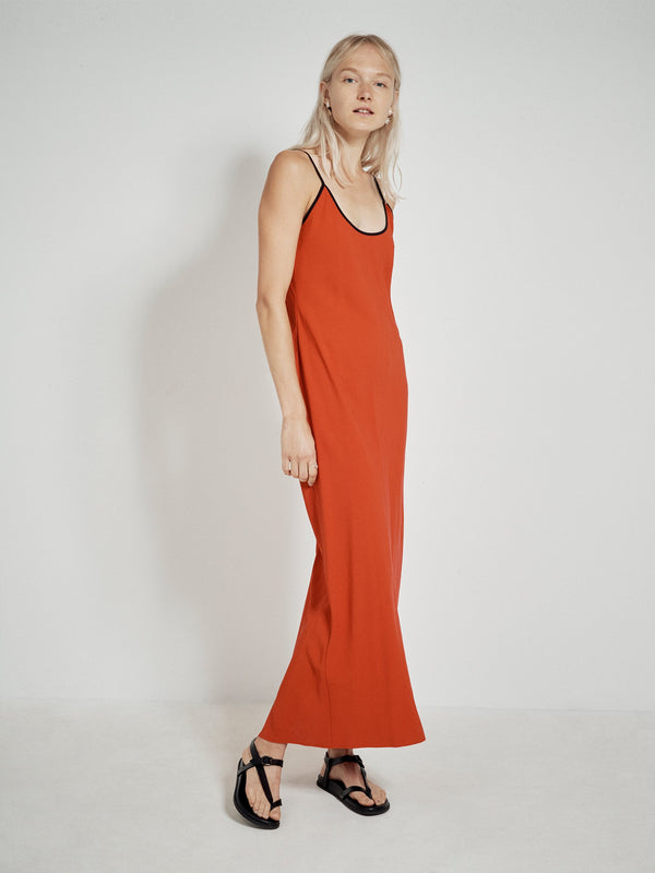twill bias cut slip dress