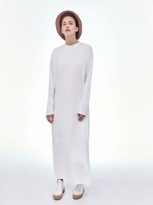 wide heritage long sleeve t.shirt dress