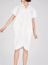 herringbone cotton sack dress