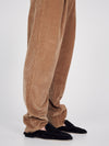 cord relaxed pleat pant