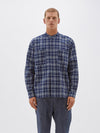relaxed check pocket shirt
