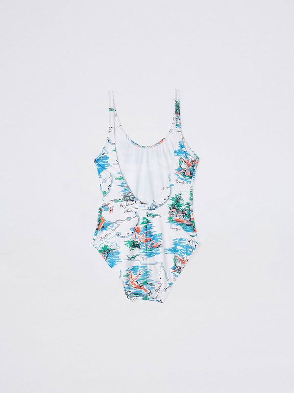 Print High Cut One Piece