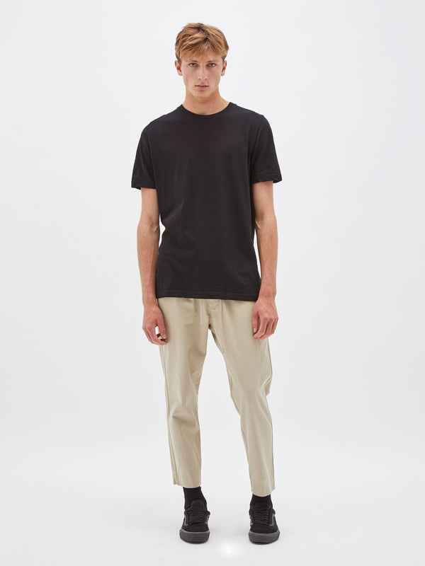 cropped drill pant