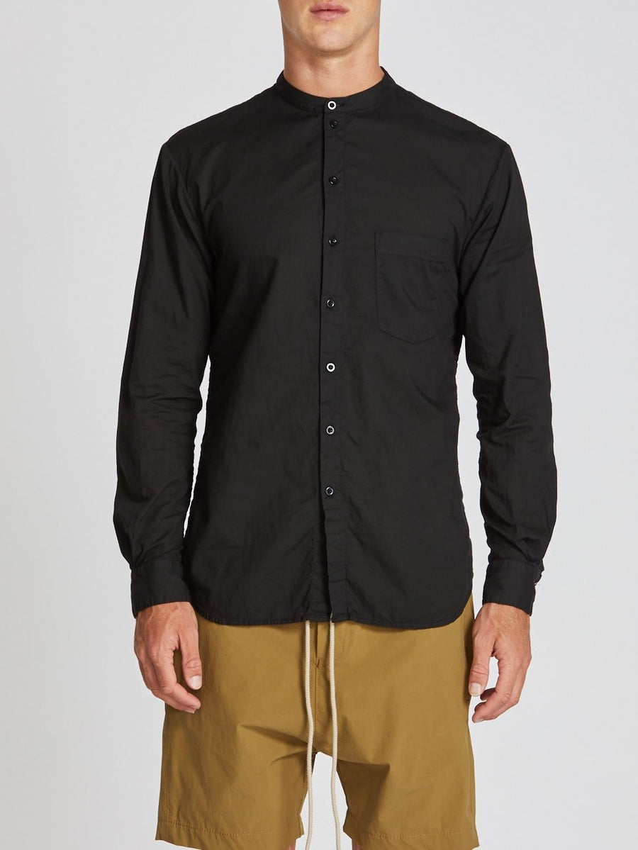 stand collar beach shirt