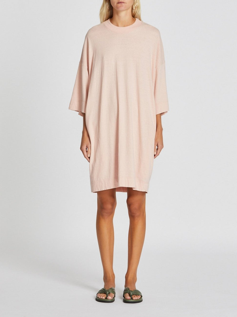 boxy slub jersey t.shirt dress