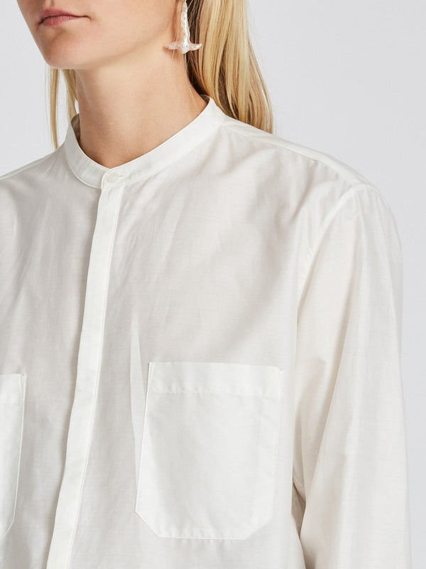 cotton silk relaxed shirt