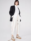 stripe linen voluminous pant