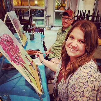 Happy guests at Artly Paint Parties