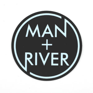 M+R Blue Circle Logo Sticker
