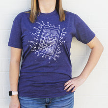 Load image into Gallery viewer, Calculator Splash Tee (Storm Purple - LIMITED SUPPLY!)