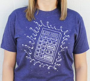 Calculator Splash Tee (Storm Purple - LIMITED SUPPLY!)