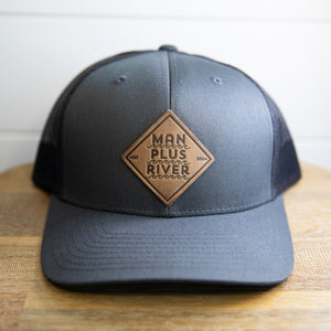 Square Leather Patch Hat