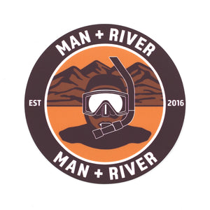 M+R Desert River Sticker