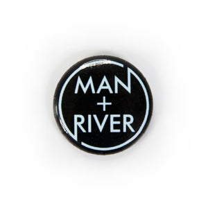 Black & Blue Circle Logo Button - VERY LIMITED SUPPLY!