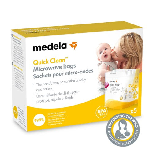 Medela Quick Clean Microwave Bags packaged