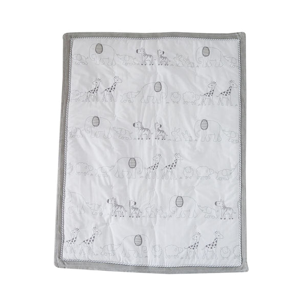 Snuggletime 3 Piece Quilt Set-Quilt Set-Snuggletime-White and Grey Animals-www.hellomom.co.za