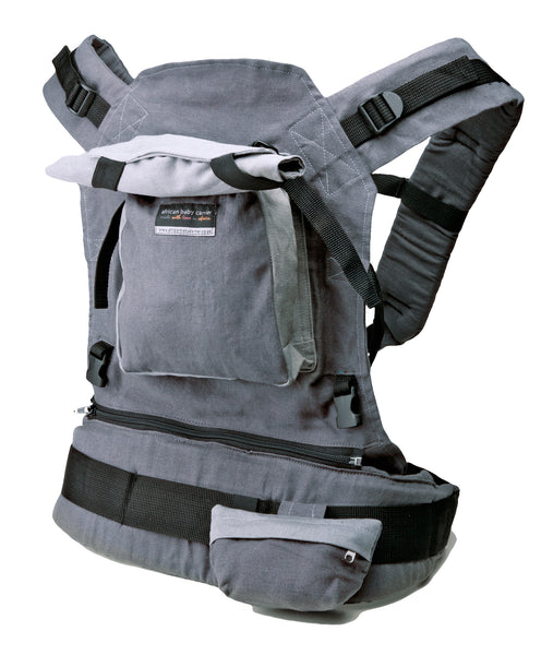 African Baby Carrier Deluxe in Grey Hemp