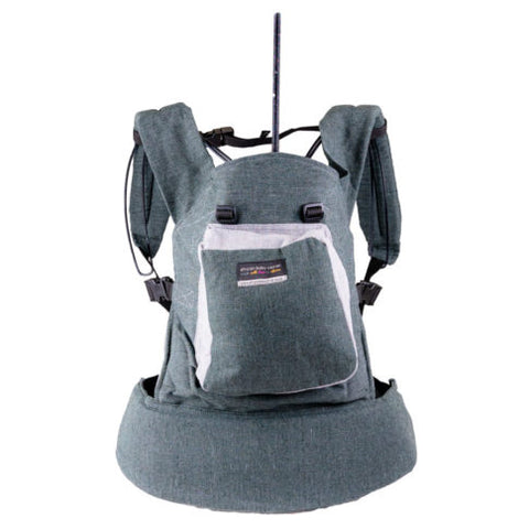 African Baby Carrier Original Hemp-Baby Carriers-African Baby Carrier-Grey-www.hellomom.co.za