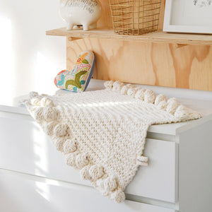Aran Baby Blanket By Blankets From Africa-Blankets-Blankets From Africa-Cot Size-www.hellomom.co.za