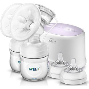 Avent Natural Twin electric breast pump with 2 teats in white