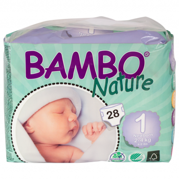 Bamboo Nature Eco Disposable Nappies (5packs)-Nappies-Mother Nature-2-4kg(140 nappies)-www.hellomom.co.za