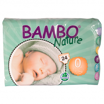 Bamboo Nature Eco Disposable Nappies (5packs)-Nappies-Mother Nature-1-3kg(120 nappies)-www.hellomom.co.za