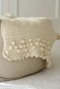 Bobble Lace Edged Cot Blanket in Eco Cotton by Blankets From Africa-Blankets-Blankets From Africa-Vanilla-www.hellomom.co.za