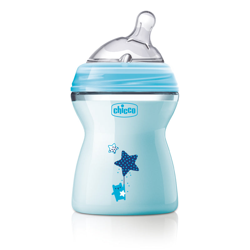 Chicco Natural Feeling Coloured Bottles Trio Pack - 250ml-Bottles-Chicco-Blue-www.hellomom.co.za