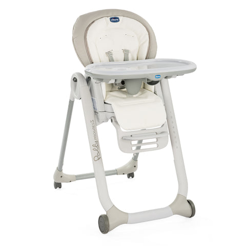 Chicco Polly Progress 5 Highchair-Highchairs-Chicco-White Snow-www.hellomom.co.za