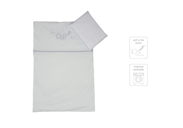 Cabbage Creek 3 Piece Linen Set-Bedding-Cabbage Creek-Grey Stars-www.hellomom.co.za