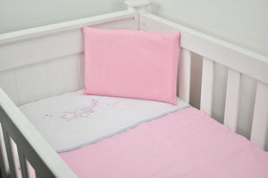 Cabbage Creek 3 Piece Linen Set-Bedding-Cabbage Creek-Pink Stars-www.hellomom.co.za