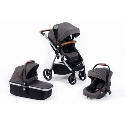 Babybuggz Chariszma 3 in 1 Travel System in Charcoal