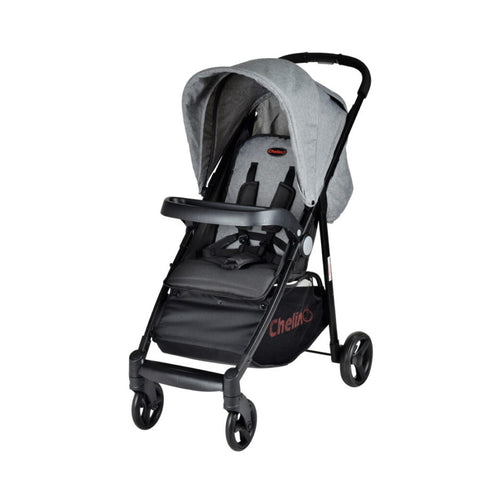 Chelino Cruze Stroller-Strollers-Chelino-Black and Grey-www.hellomom.co.za