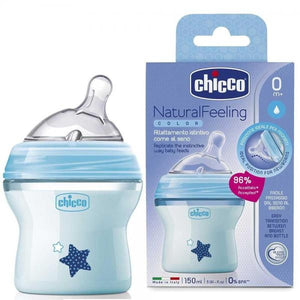 Chicco Natural Feeling Coloured Bottles Trio Pack - 150ml