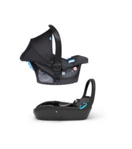 Chicco Kaily Car Seat  in Black with click and go base