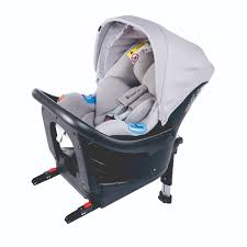 Chicco Oasys I Size car seat in grey with Bebe Care plus isofix base