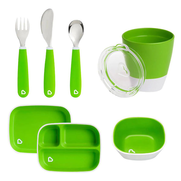 Munchkin Colour Me Hungry Dining Set in Green
