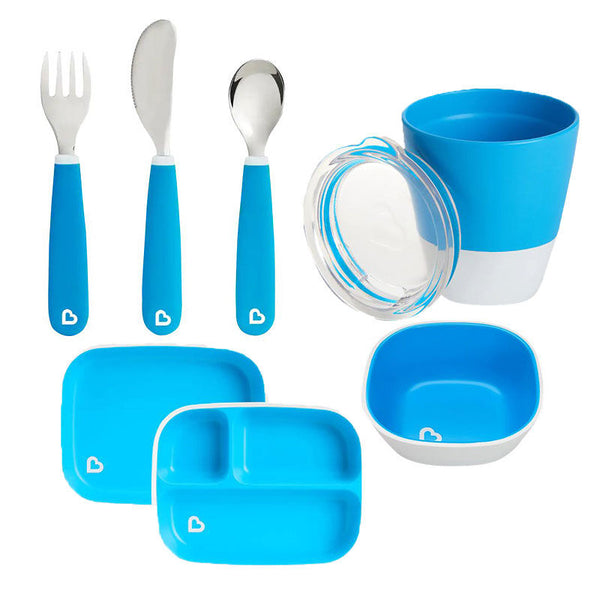 Munchkin Colour Me Hungry Dining Set in Blue