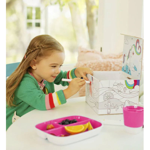 Munchkin Colour Me Hungry Dining Set in Pink