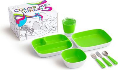 Munchkin Colour Me Hungry Dining Set in Green with Gift Box