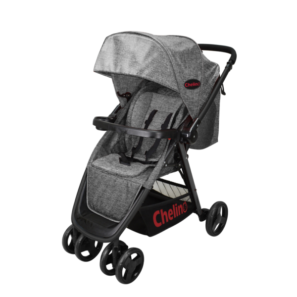 Chelino Crossover Stroller in grey available for sale at Hello Mom