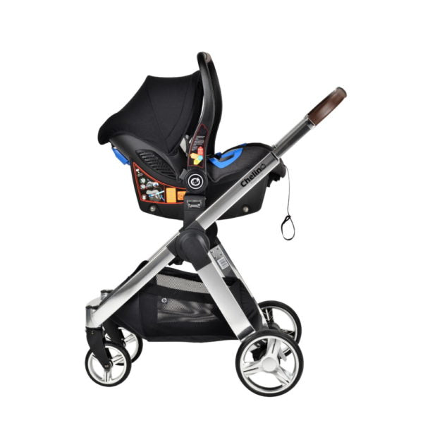 Chelino Platinum Lunar 3 in 1 Travel System with Chrome Frame