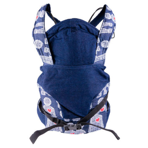 African Baby Carrier Newborn Peppertree-Baby Carriers-African Baby Carrier-Denim Boy Heart-www.hellomom.co.za