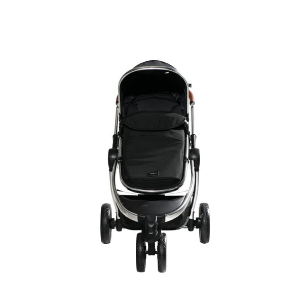 Chelino Platinum Discovery Stroller with Chrome Frame from the Front