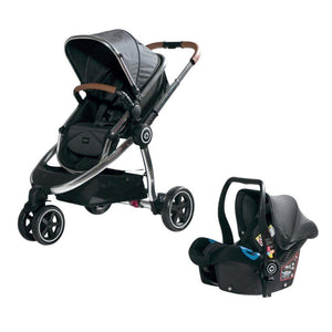 Chelino Platinum Discovery Stroller and car Seat with Chrome frame