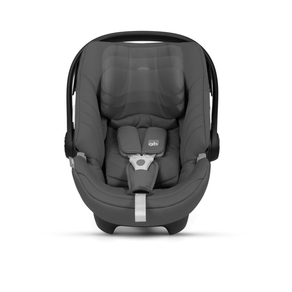 GB Artio Car Seat from the front with black car seat cover